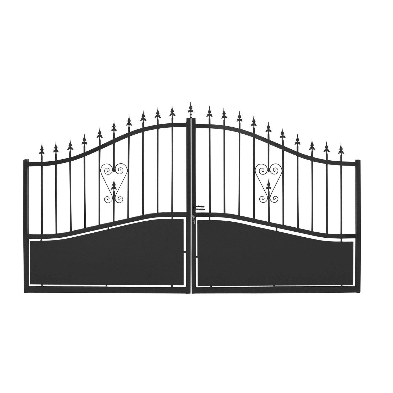 Souvent Portail de 4 metres portillon jardin grillage | Expression maison VX03