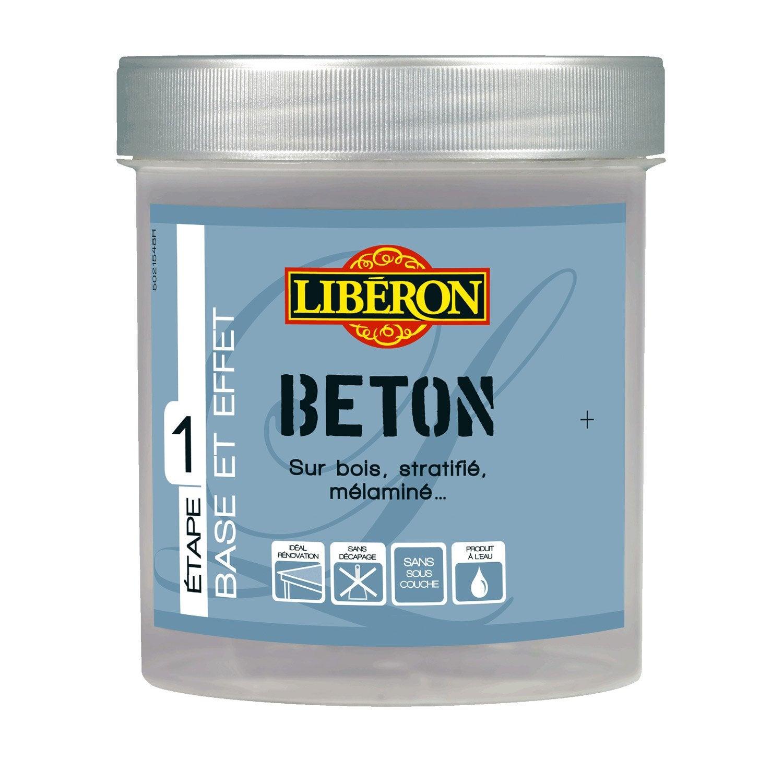 Peinture effet effet b ton mat liberon brouillard 0 5 for Enduit effet beton cire pour plan de travail