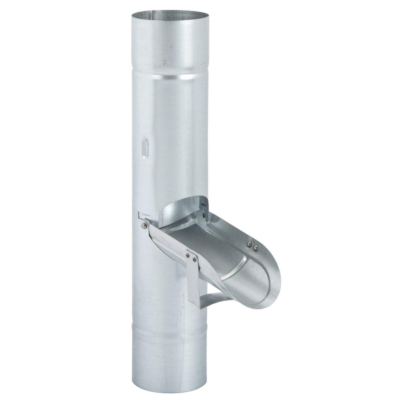 r cup rateur d 39 eau pluie acier galvanis gris scover plus. Black Bedroom Furniture Sets. Home Design Ideas