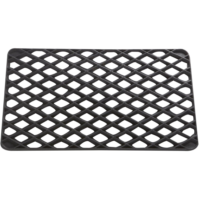 Paillasson grille caoutchouc losanges noir 60 x 35 cm leroy merlin - Paillasson leroy merlin ...