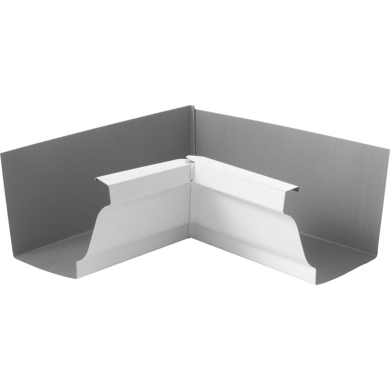 Angle int rieur pour goutti re aluminium blanc scover plus for Gouttiere alu leroy merlin