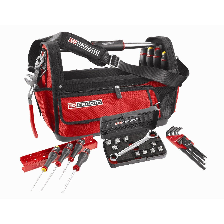 Grand sac outils 51cm 28 outils probag facom leroy merlin - Sac a outils facom ...