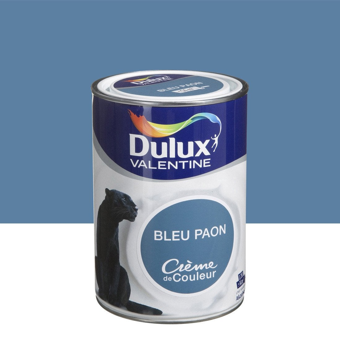 peinture bleu paon dulux valentine cr me de couleur l leroy merlin. Black Bedroom Furniture Sets. Home Design Ideas