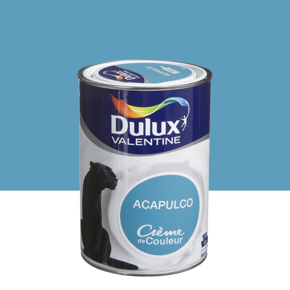 Peinture bleu acapulco dulux valentine cr me de couleur 1 - Peinture bleu petrole leroy merlin ...