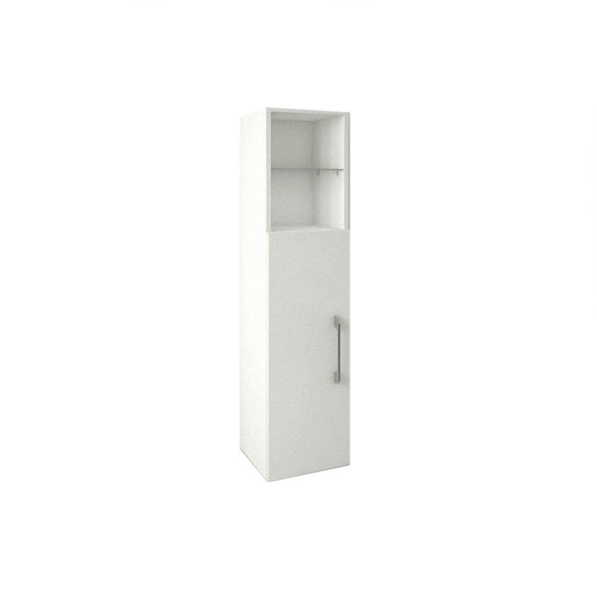 colonne 1 porte 1 niche happy blanc blanc n 0 leroy merlin. Black Bedroom Furniture Sets. Home Design Ideas