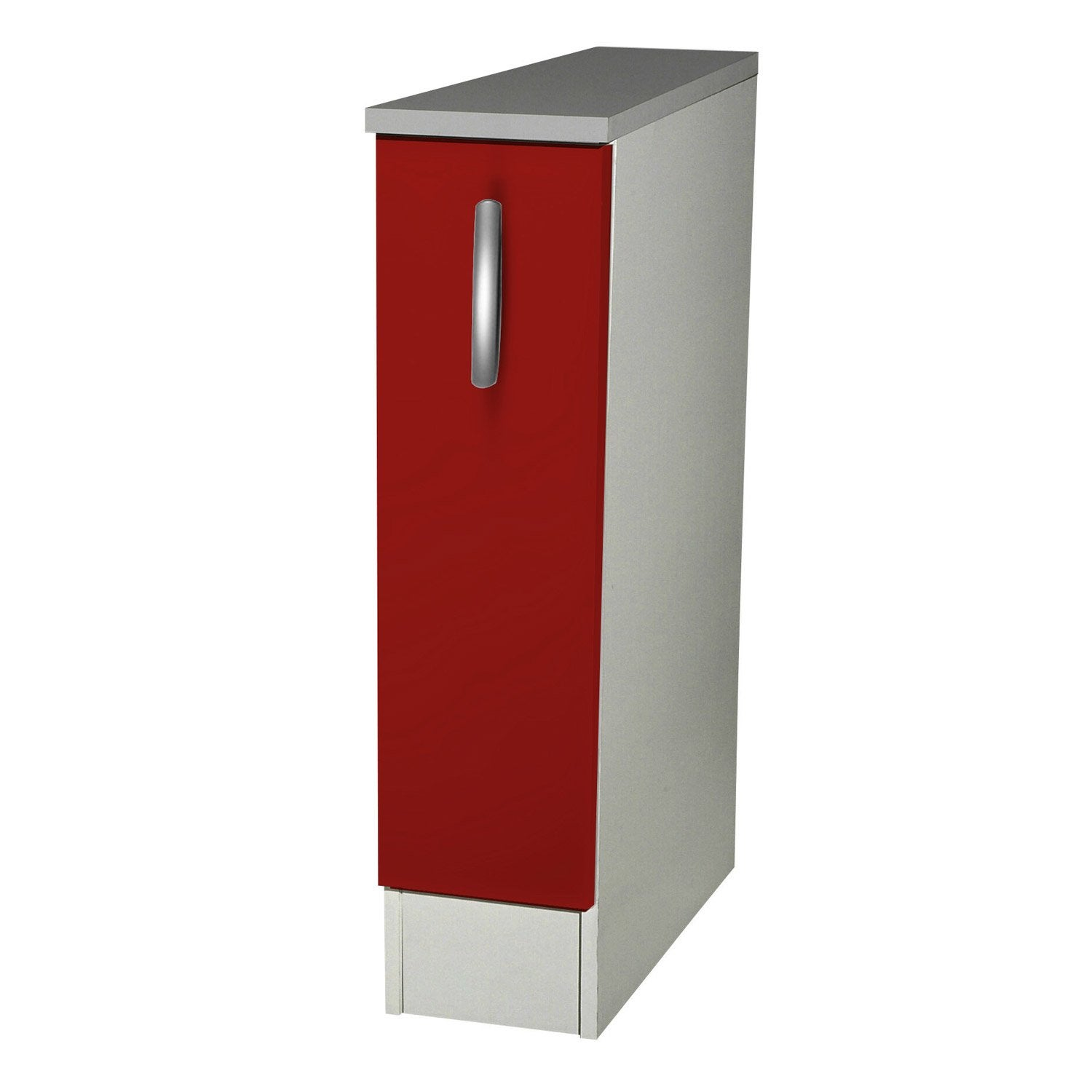 Meuble de cuisine bas 1 porte rouge h86 x l15 x p60 cm for Portes elements cuisine leroy merlin