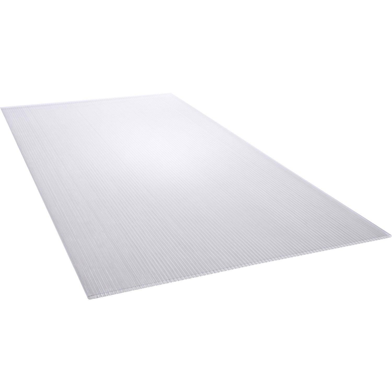 Plaque polycarbonate alv olaire clair lisse x for Tube plexiglas leroy merlin
