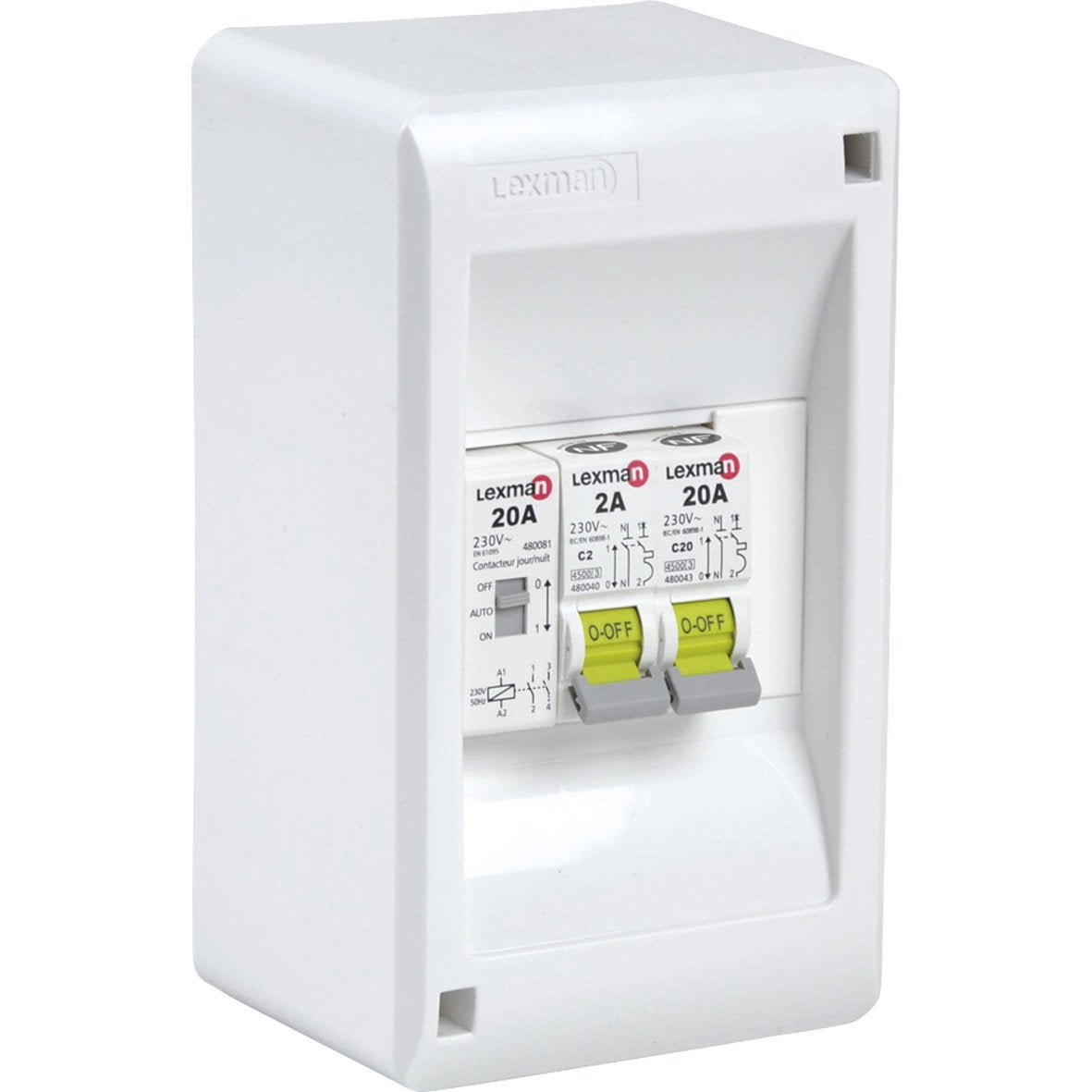 Tableau chauffe eau pr c bl lexman 1 rang e 4 modules - Tableau magnetique leroy merlin ...