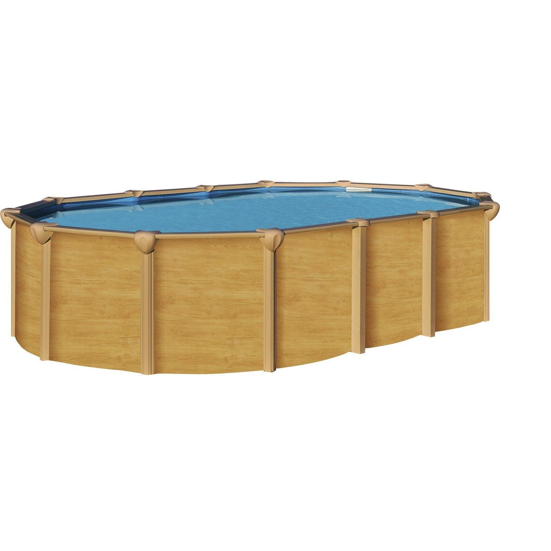 Piscine hors sol acier osmose l 6 4 x l 3 9 x h m for Piscine hors sol sans filtration