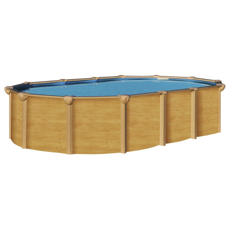 Piscine hors sol acier osmose l x l 4 9 x h m for Montage piscine hors sol acier