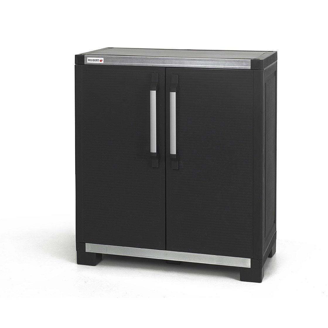 Armoire basse r sine 1 tablette allibert xl pro x x cm ler - Armoire plastique leroy merlin ...