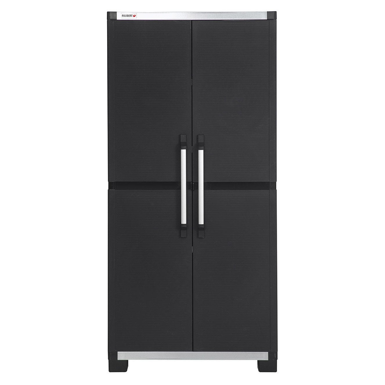 Armoire haute r sine 3 tablettes allibert xl pro x h for Meuble mural exterieur