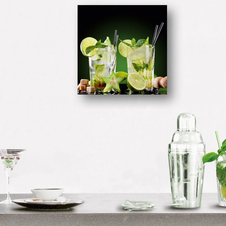 Verre imprim mojitos deco glass x cm leroy merlin - Tableau imprime sur verre ...
