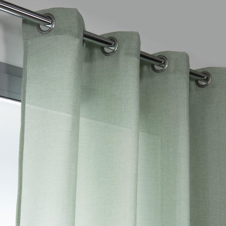 rideau tamisant copenhague vert deau n 6 x cm leroy merlin. Black Bedroom Furniture Sets. Home Design Ideas