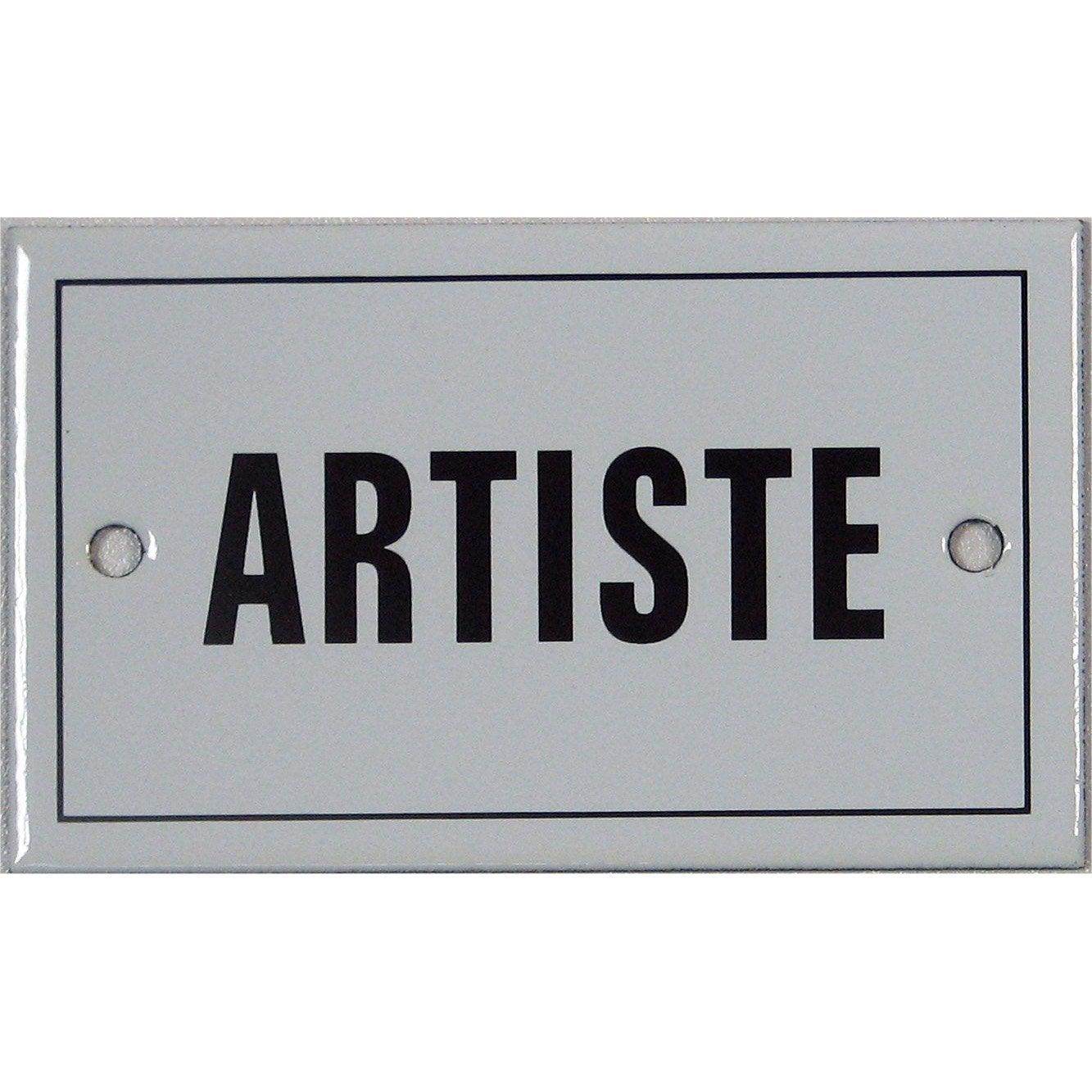 Plaque maill e artiste en acier leroy merlin - Plaque en fer leroy merlin ...