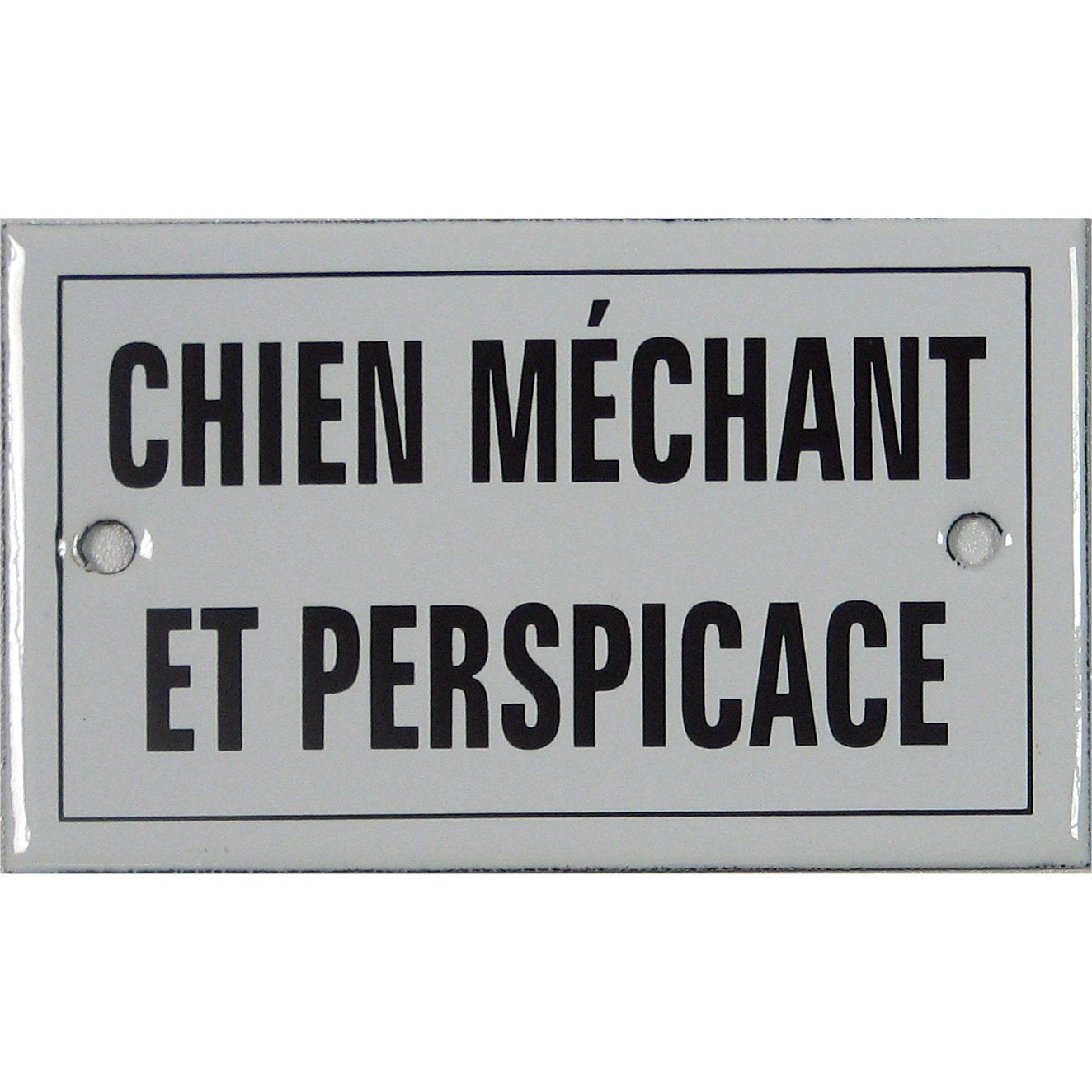 plaque maill e chien m chant et perspicace visser en acier leroy merlin. Black Bedroom Furniture Sets. Home Design Ideas