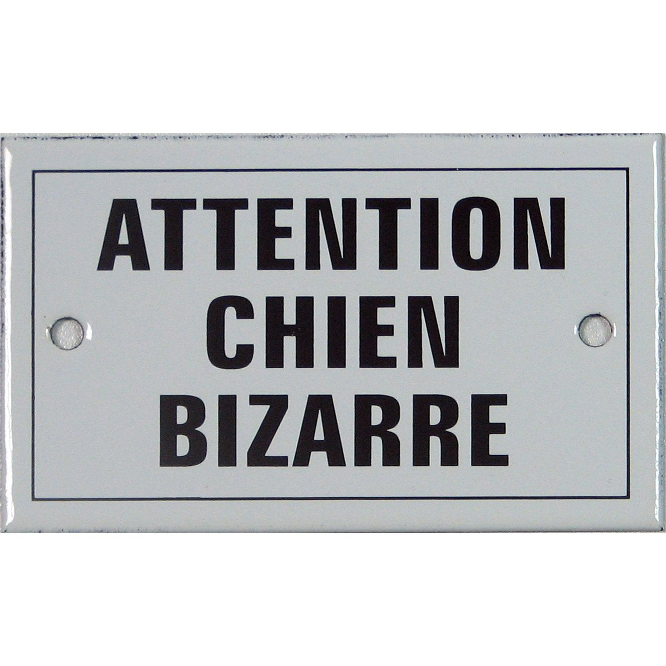 plaque attention chien bizarre en acier leroy merlin. Black Bedroom Furniture Sets. Home Design Ideas
