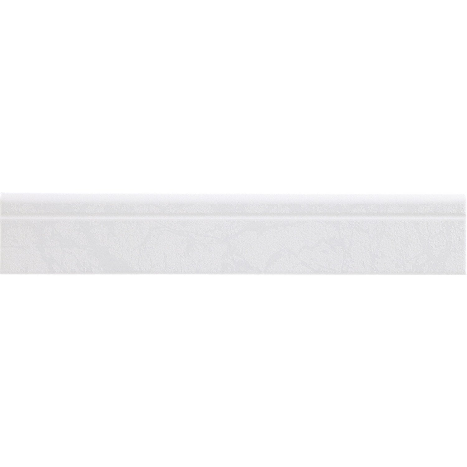 Lot de 4 plinthes polaire blanc l 8 x cm leroy for Plinthe carrelage blanc
