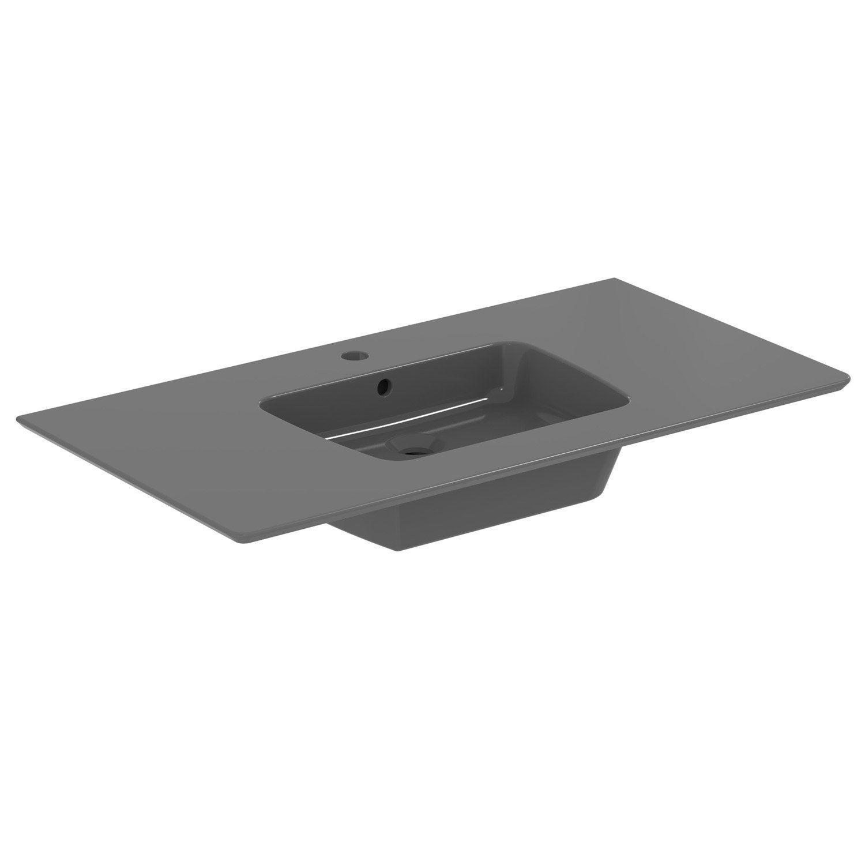 Meuble sous vasque idealsmart c ramique 94 cm leroy merlin - Leroy merlin 94 ...