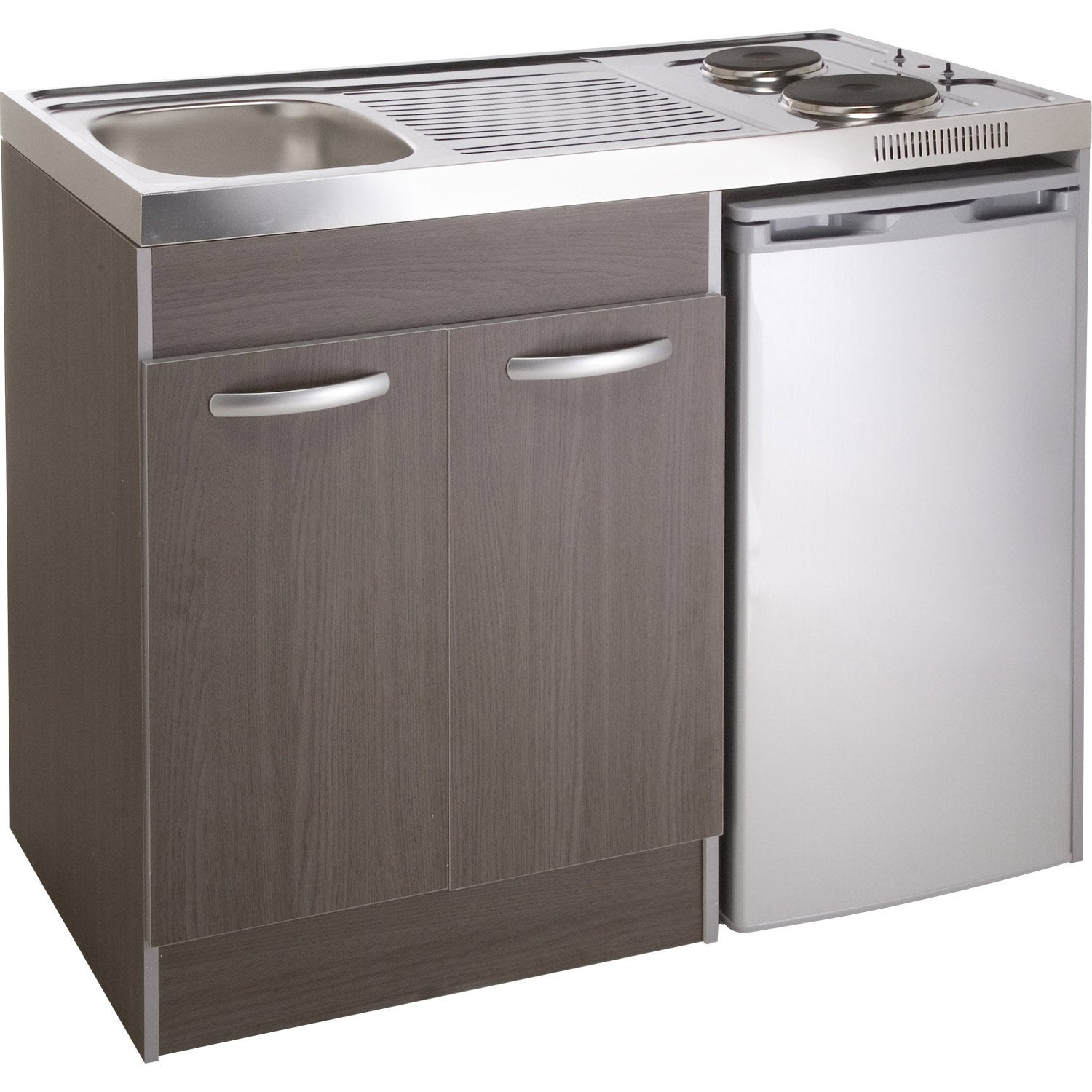 Kitchenette electrique imitation ch ne galiano spring - Poubelle sous evier leroy merlin ...