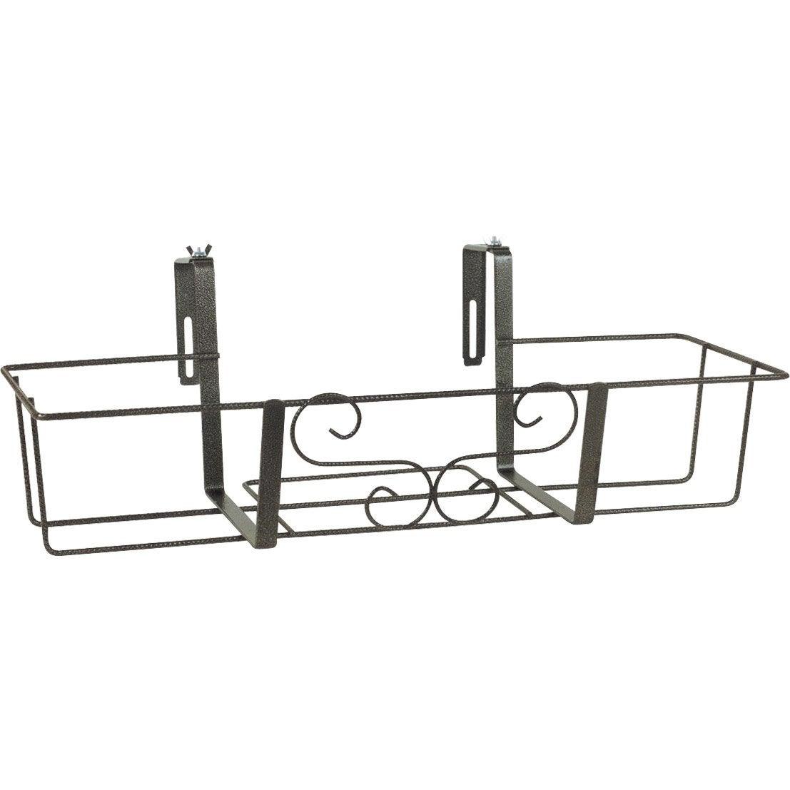 support balconni re ext rieur jardifer gris m tal leroy merlin. Black Bedroom Furniture Sets. Home Design Ideas