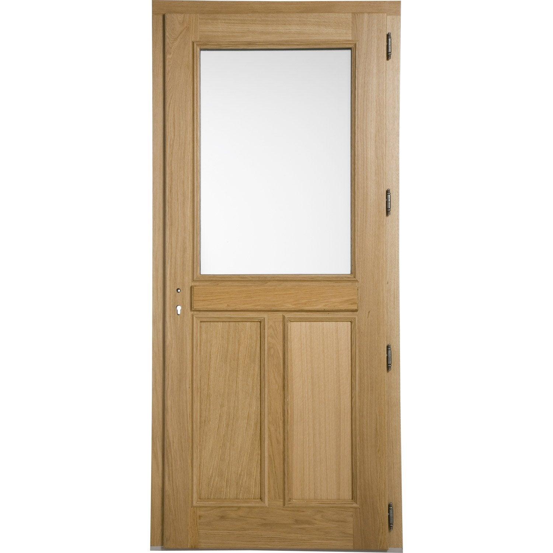 Porte d 39 entr e ch ne blois artens poussant droit h215 x l90 cm leroy merlin - Porte entree pvc leroy merlin ...