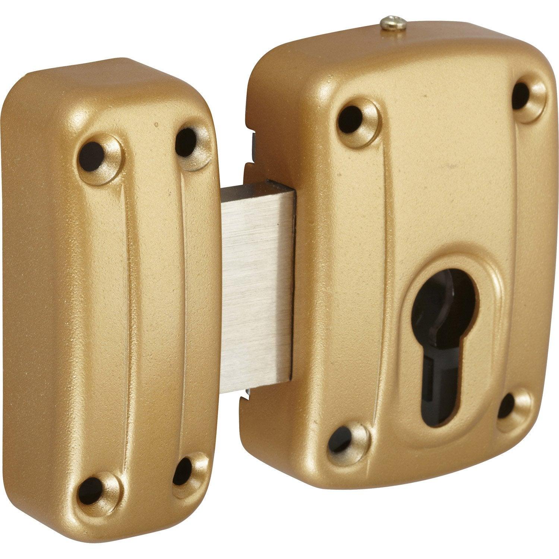 Bo tier verrou double cylindre standers leroy merlin Boitier relevant pour double porte de meuble cuisine