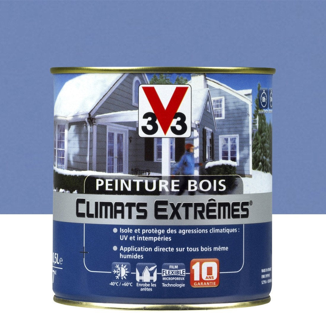 peinture bois ext rieur climats extr mes v33 brillant lavande 0 5l leroy merlin. Black Bedroom Furniture Sets. Home Design Ideas