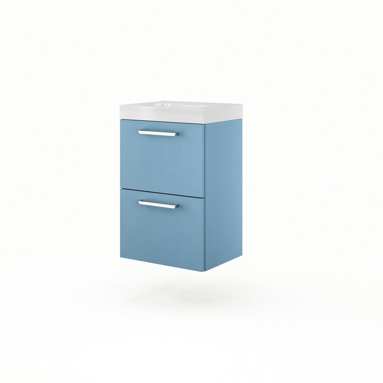 meuble vasque bleu sensea neo line leroy merlin. Black Bedroom Furniture Sets. Home Design Ideas