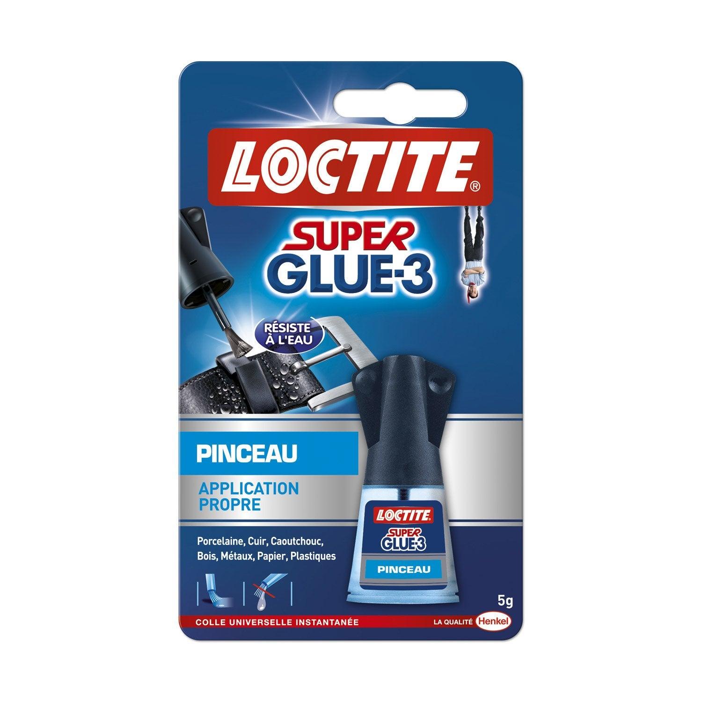 colle glue liquide super glue 3 loctite 5 g leroy merlin. Black Bedroom Furniture Sets. Home Design Ideas