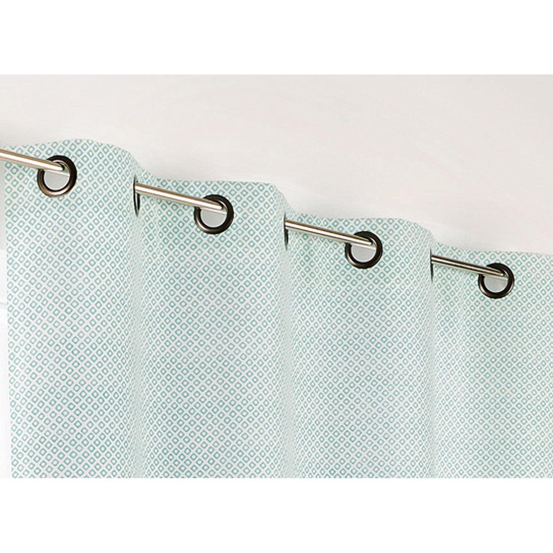 rideau tamisant palacio turquoise x cm leroy merlin. Black Bedroom Furniture Sets. Home Design Ideas