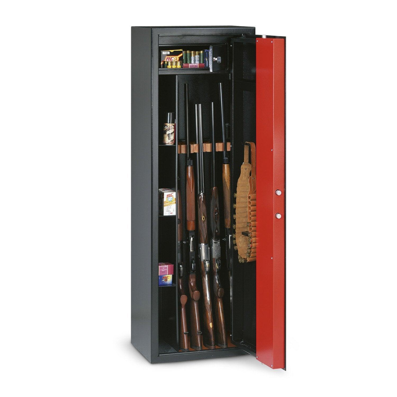 armoire fusils cl 5 fusils technomax t 705r x x cm leroy merlin. Black Bedroom Furniture Sets. Home Design Ideas