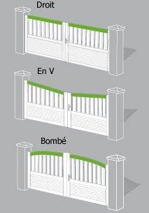 Portail Portail Aluminium Bois Fer Pvc Battant Coulissant Au Meilleur Prix Leroy Merlin