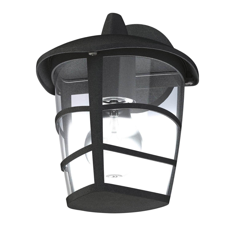 applique descendante ext rieure aloria e27 noir eglo leroy merlin. Black Bedroom Furniture Sets. Home Design Ideas