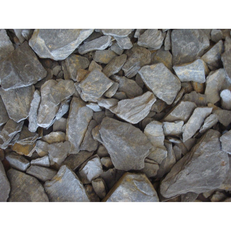 P tales d 39 ardoise schiste en pierre naturelle gris 10 30 mm 1 t leroy merlin for Pierre d ardoise