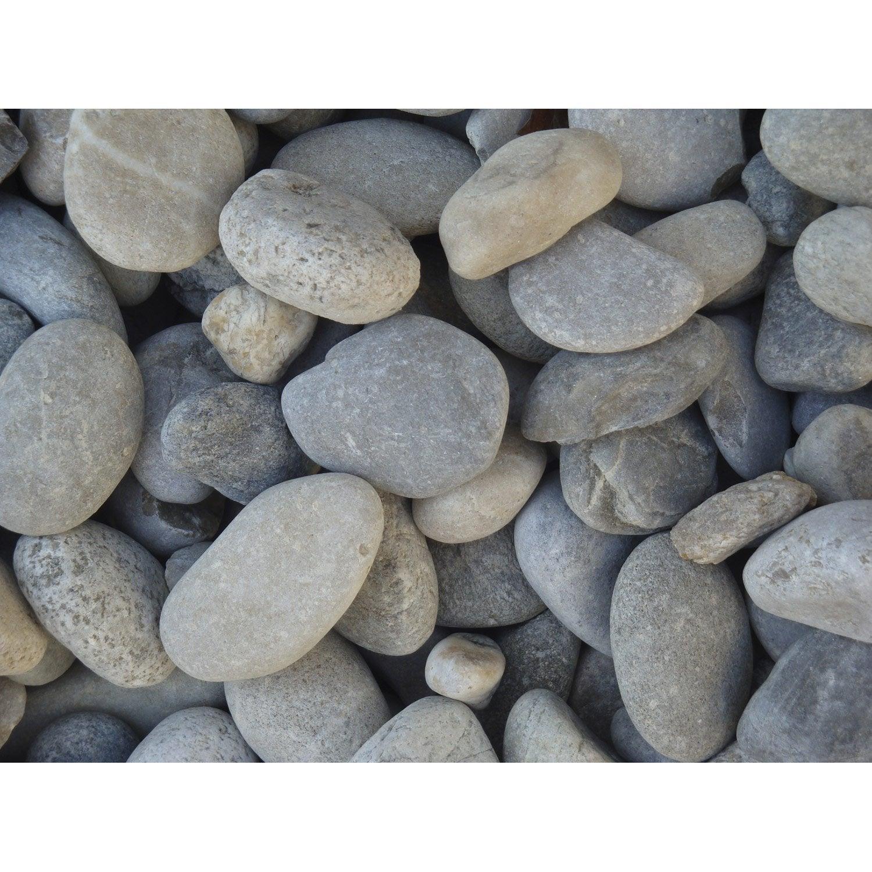 galets pierre naturelle gris gabions 20 50mm 1 t leroy merlin. Black Bedroom Furniture Sets. Home Design Ideas