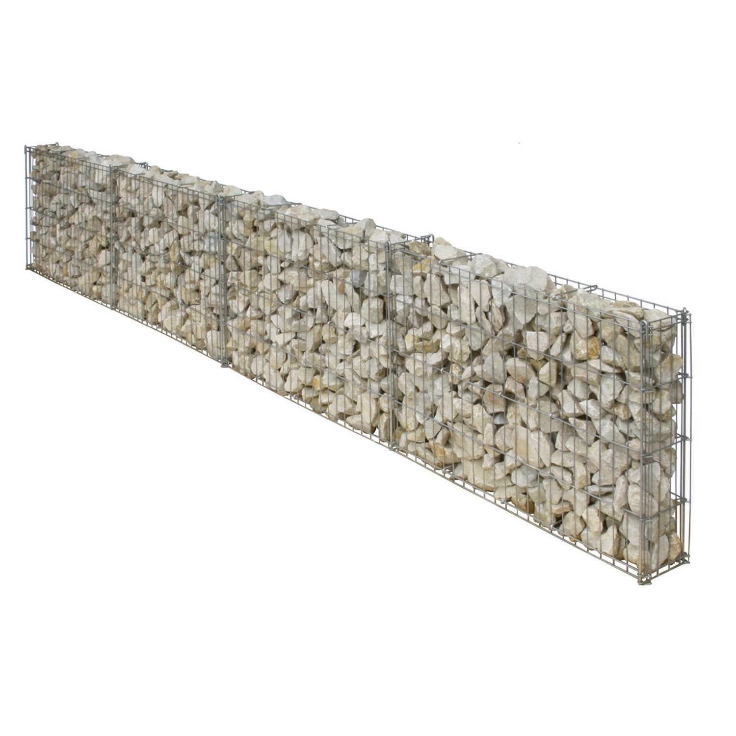 gabion en aluminium zing gris 25 x 100 cm leroy merlin. Black Bedroom Furniture Sets. Home Design Ideas