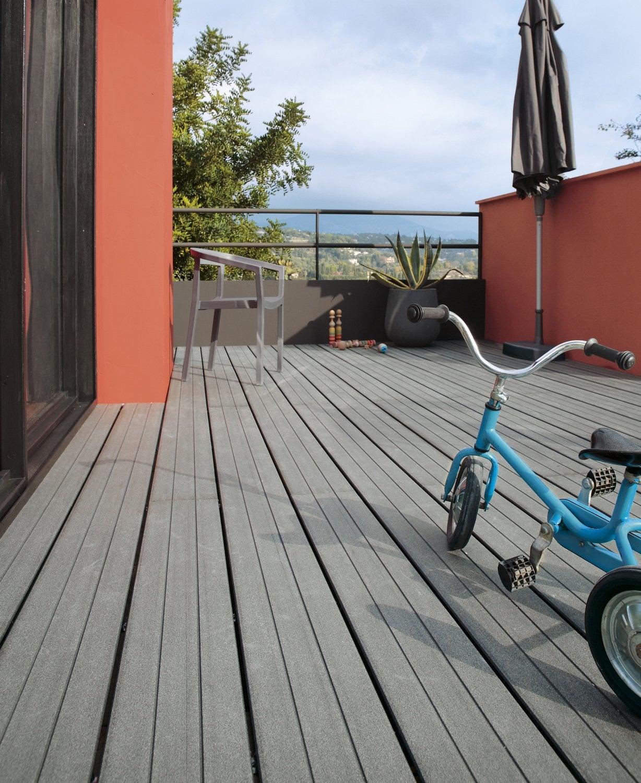 Un balcon habill en dalles leroy merlin - Dalles clipsables leroy merlin ...