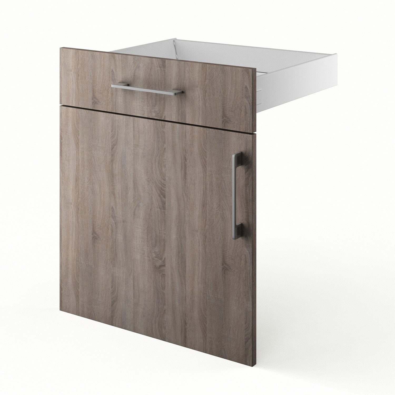 Porte et tiroir de cuisine d cor ch ne havane topaze for Porte 60 x 70