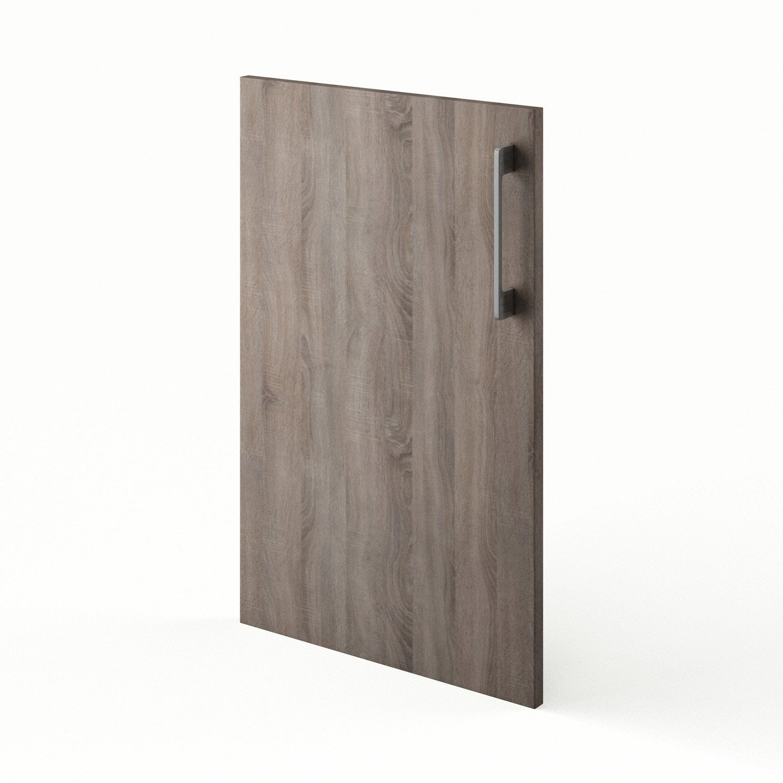 Porte de cuisine d cor ch ne havane topaze x cm for Porte 70 cm de large