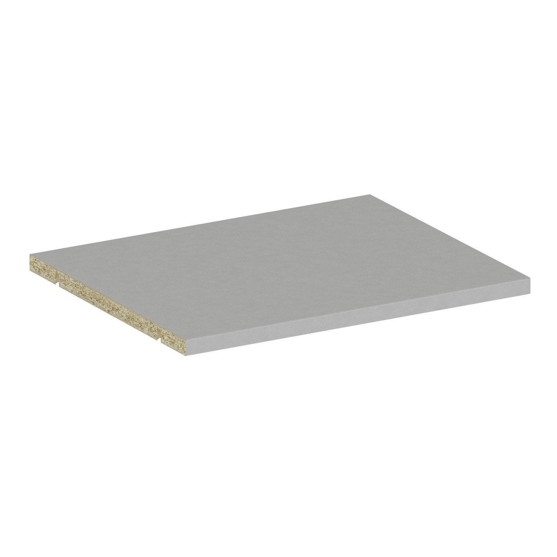 Tablette gris spaceo home x x p 1 6 cm leroy merlin - Bassins om leroy merlin te zetten ...