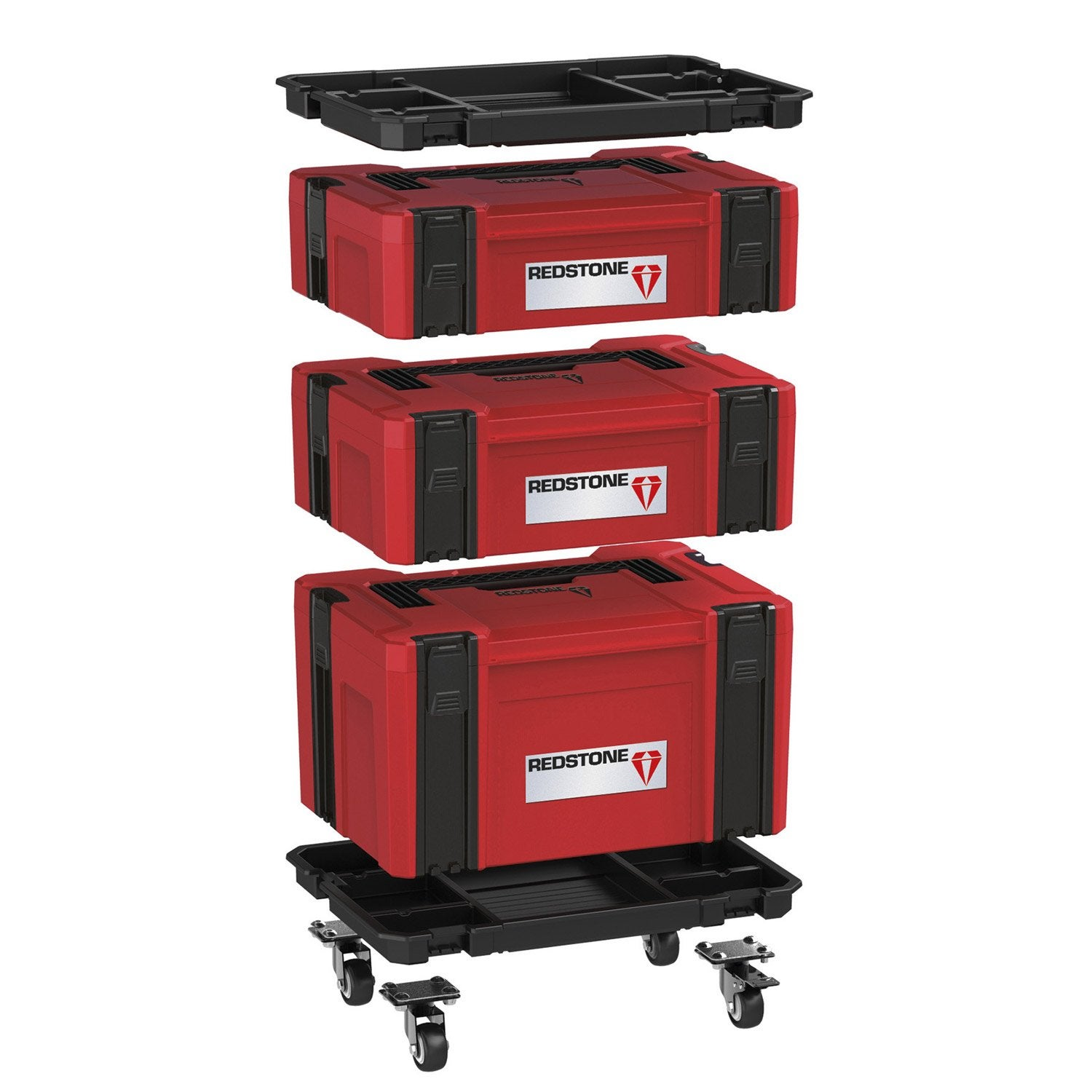 Kit Systembox Empilable Bo Tes Outils Lectroportatifs Redstone 31 5 Cm Leroy Merlin