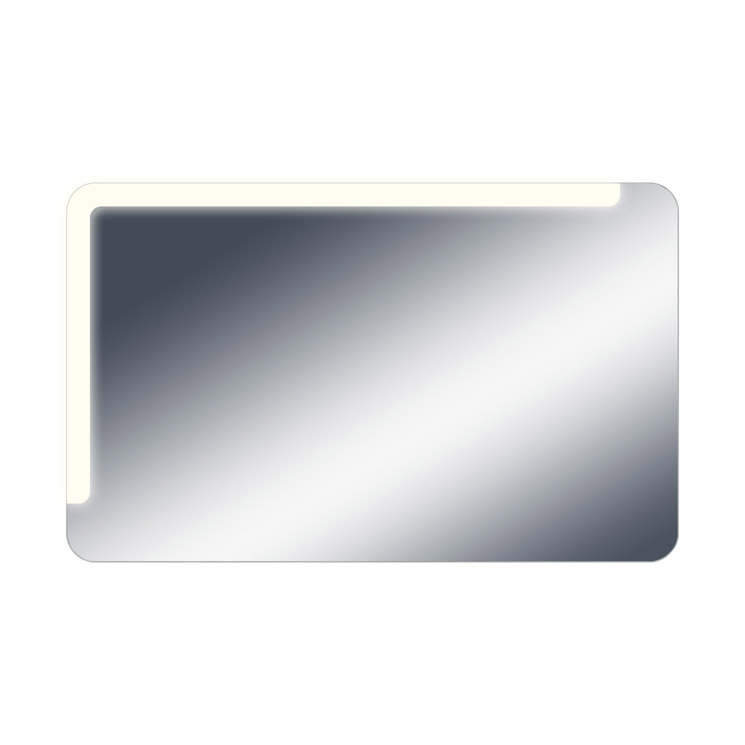 Miroir lumineux avec clairage int gr x cm neo shine leroy merlin for Pots lumineux leroy merlin