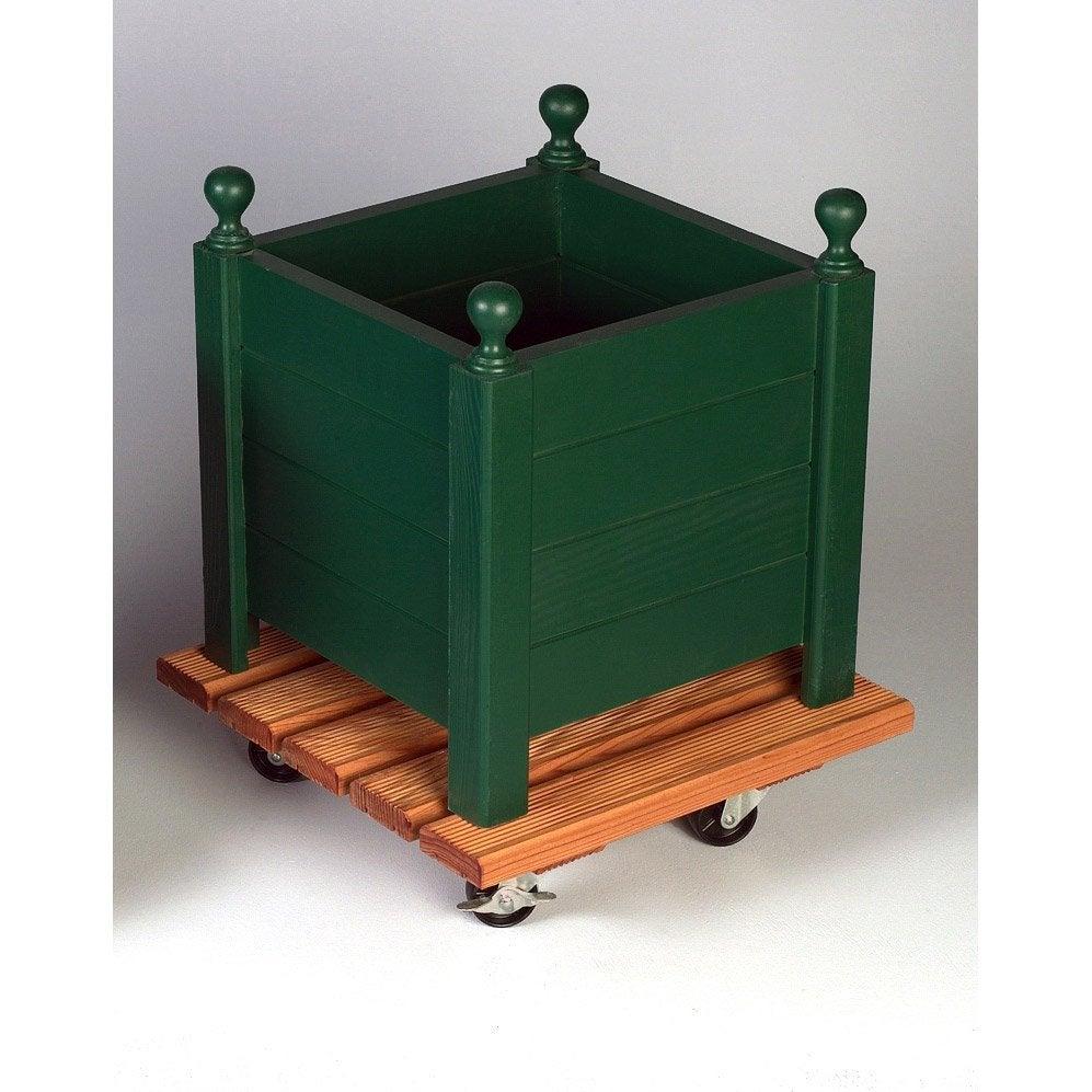 support pot avec roulette carr bois leroy merlin. Black Bedroom Furniture Sets. Home Design Ideas