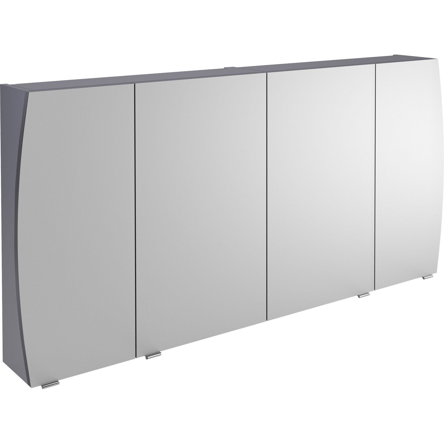 armoire de toilette l 140 cm gris image leroy merlin. Black Bedroom Furniture Sets. Home Design Ideas