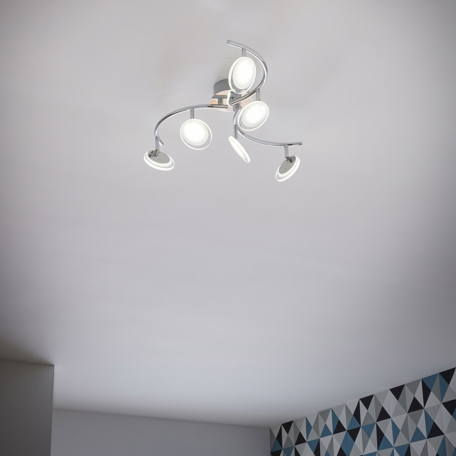 Lustre Design Led Cheap New Diy Morden Semi Flush Mount