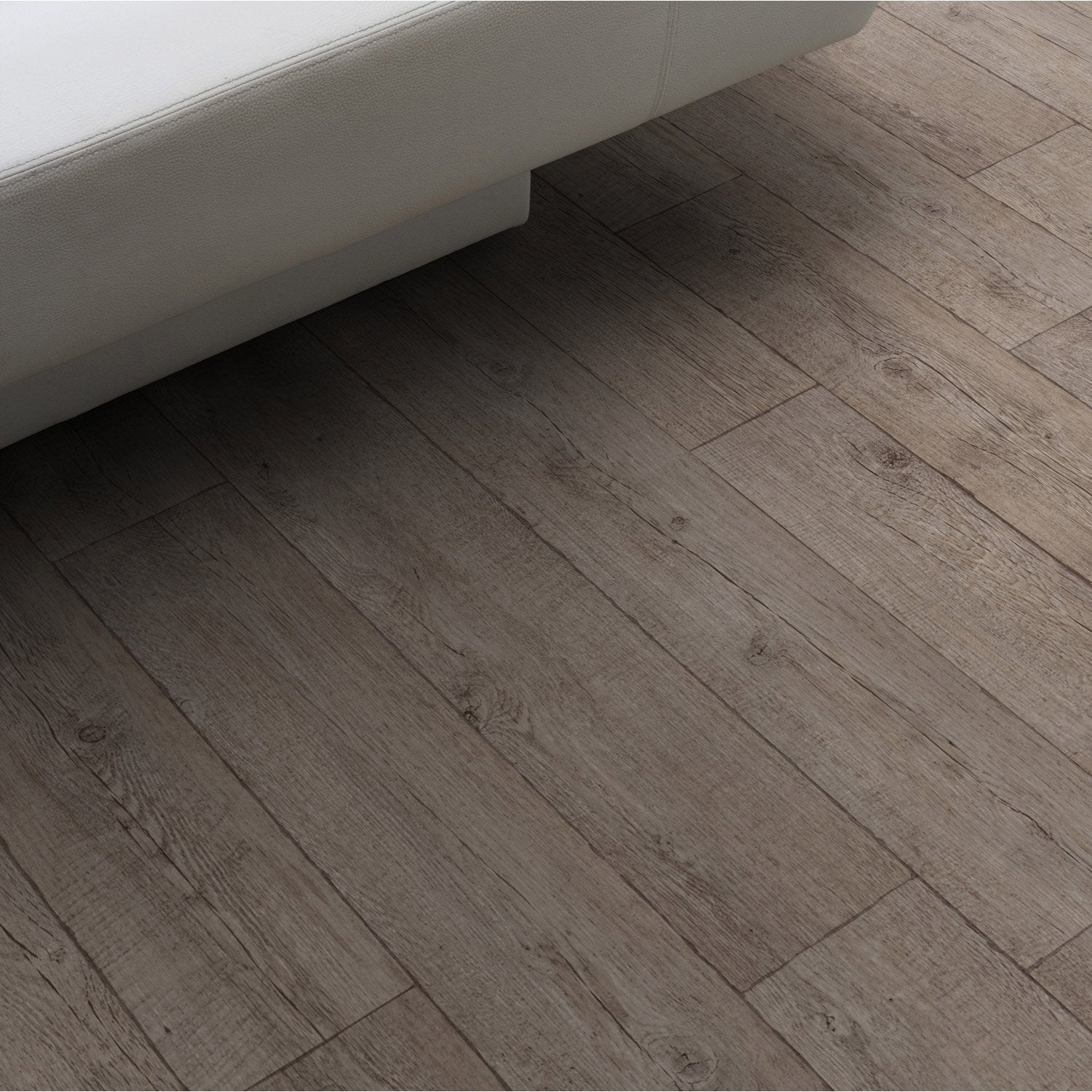 Sol pvc marron farm p can gerflor texline l 4 m leroy for Poser du lino en rouleau