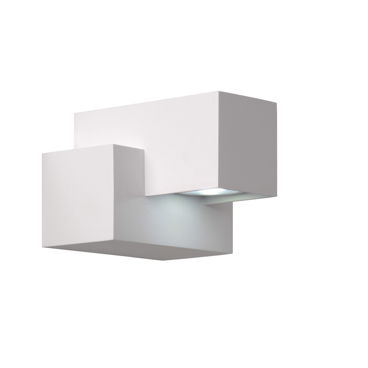 Applique ext rieure kwinto led int gr e blanc lucide for Applique murale exterieur led leroy merlin