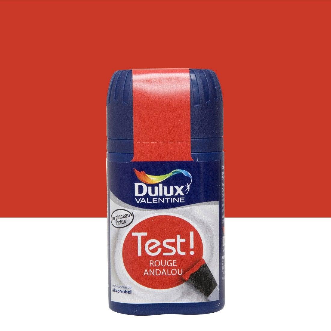 Testeur peinture rouge madras dulux valentine crème de couleur ...