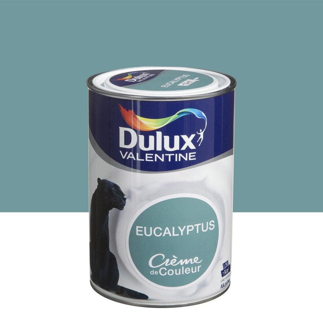 peinture vert eucalyptus dulux valentine cr me de couleur. Black Bedroom Furniture Sets. Home Design Ideas